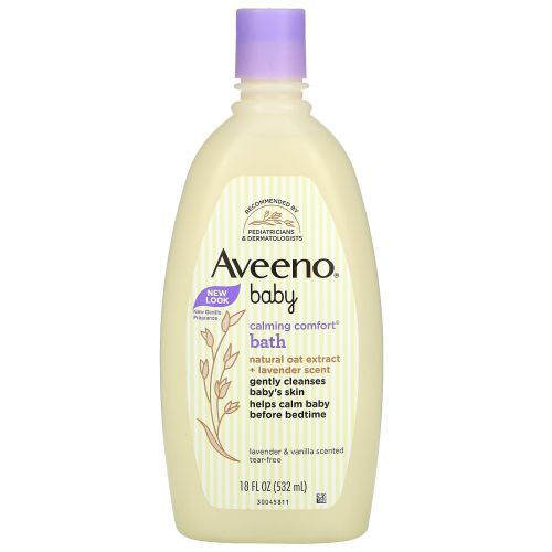 Aveeno, Baby, Calming Comfort Bath, лаванда и ваниль, 532 мл (18 жидких унций)