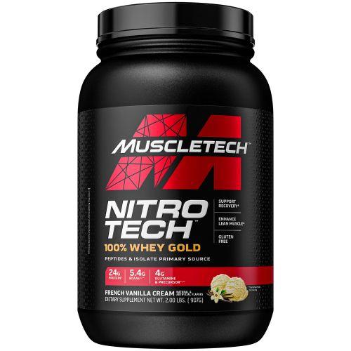 Muscletech, Nitro Tech, 100% сыворотка Gold, французский ванильный крем, 2,5 фунта (1,13 кг)