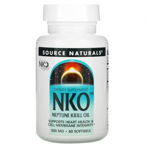 Source Naturals, NKO, масло криля, 500 мг, 60 капсул