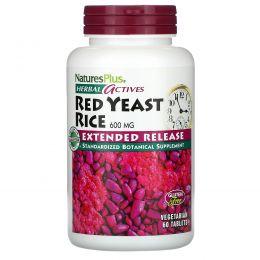 Nature's Plus, Травяные активные вещества, Красный ферментированный рис, 600 мг, 60 таблеток