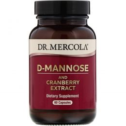 Dr. Mercola, Премиум добавки, D-манноза, 60 капсул