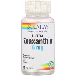 Solaray, Ультра зеаксантин, 6 мг, 30 капсул