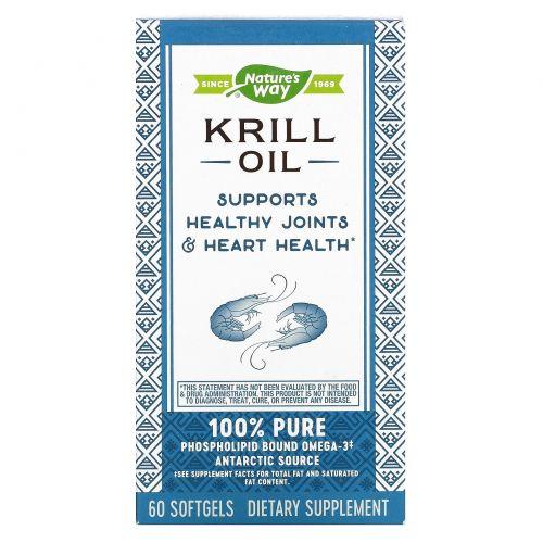 Nature's Way, EfaGold, масло криля, 500 мг, 60 мягких капсул