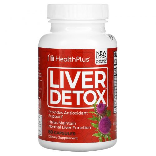 Health Plus Inc., Liver Detox, 60 Capsules