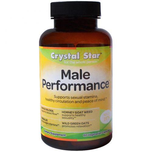 Crystal Star, Male Performance (средство для мужской силы), 60 вегетарианских капсул