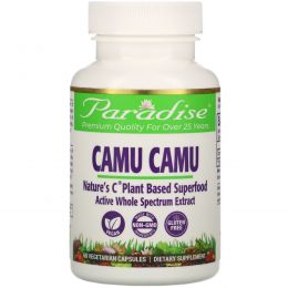 Paradise Herbs, Каму-каму, 60 капсул на растительной основе