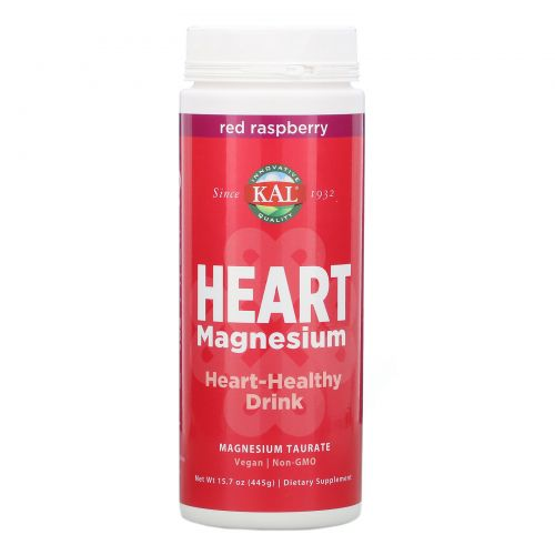 KAL, Магний для сердца, напиток для здоровья сердца, красная малина, 445г (15,7унции)
