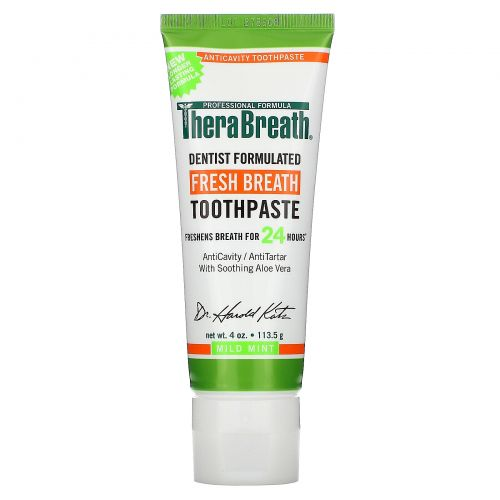 TheraBreath, Освежающая дыхание зубная паста, с мягким мятным вкусом, 4 унции (113,5 г)