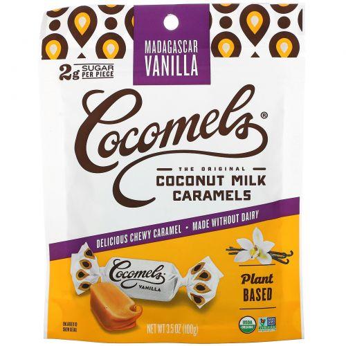 Cocomels, Органическая карамель с кокосовым молоком, ваниль, 3,5 унц. (100 г)
