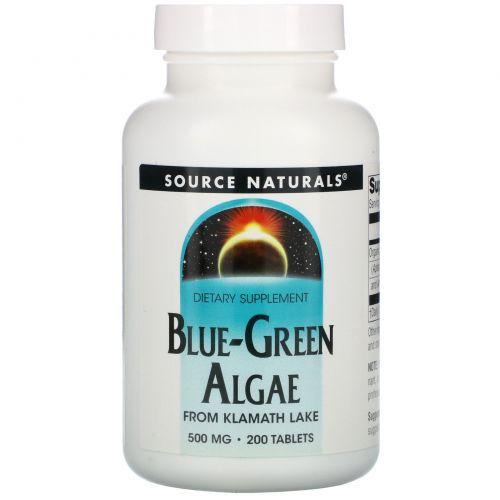 Source Naturals, Сине-зеленая водоросль, 200 таблеток