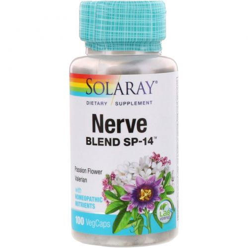 Solaray, Nerve Blend SP-14, 100 Veggie Caps