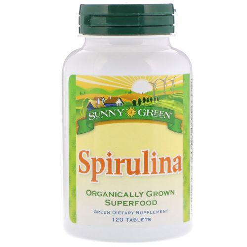 Sunny Green, Spirulina, 120 Tablets