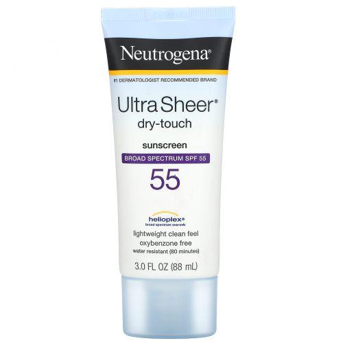 Neutrogena, Ультра-сухой солнцезащитный крем, SPF 55, 3 жидких унций (88 мл)