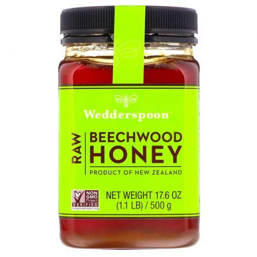 Wedderspoon, 100% Сырой буковый мёд, 17,6 oz (500 г)