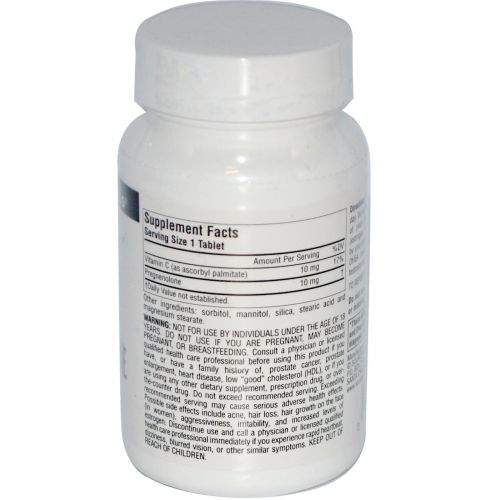 Source Naturals, Прегненолон, 10 мг, 120 таблеток