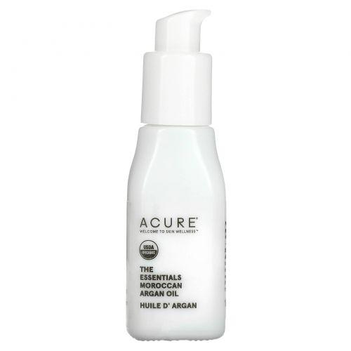 Acure Organics, 100 % сертифицированное, органическое, марокканское аргановое масло, Восстановление для всех типов кожи, 1 унция (30 мл)