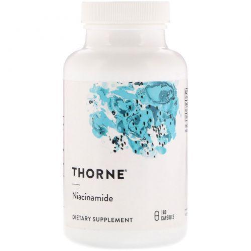 Thorne Research, Ниацинамид, 180 капсул на растительной основе