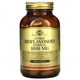 Solgar, Комплекс биофлавоноидов цитрусовых, 1000 мг, 100 таблеток