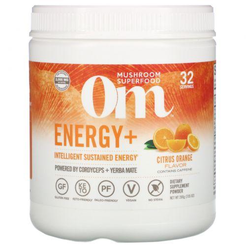Organic Mushroom Nutrition, Энергия, грибной порошок, цитрус апельсин, 7.14 унций (200 г)