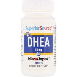 Superior Source, ДГЭА, 50 мг, 100 микролингвальных таблеток