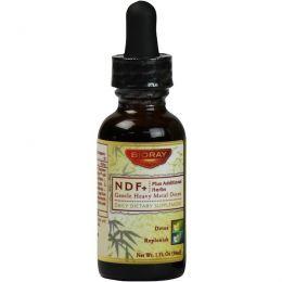 Bioray Inc., NDF+ (мягкое натуральное средство для выведения токсинов), 1 жидкая унция (30 мл)