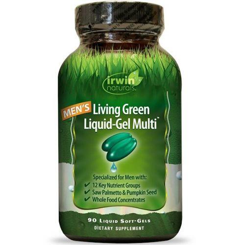 Irwin Naturals, Гель Living Green Liquid Multi, 90 жидких капсул