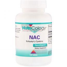 Nutricology, NAC, N-ацетил-L-цистеин, 120 таблеток
