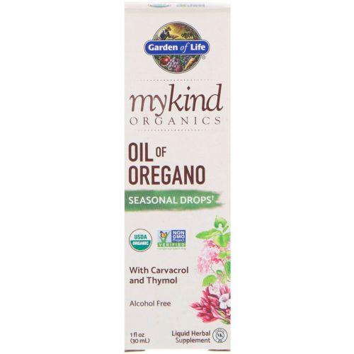 Garden of Life, MyKind Organics, Oil of Oregano Seasonal Drops, 1 fl oz (30 mL)