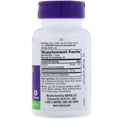 Natrol, ДГЭА, 25 мг, 90 таблеток