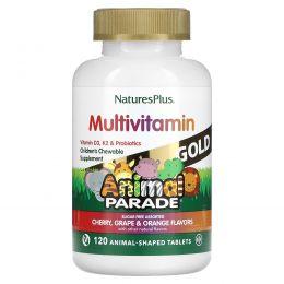 Nature's Plus, Nature's Plus, Парад животных, детский жевательный комплекс мультивитаминов и минералов, разнообразие вкусов, 120 таблеток