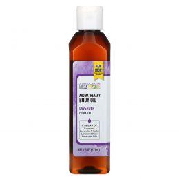 Aura Cacia, Масло для тела с эффектом ароматерапии, успокаивающая лаванда, 8 жидкие унции (237 мл)