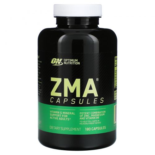 Optimum Nutrition, ZMA, 180 капсул