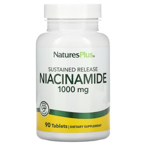 Nature's Plus, Ниацинамид, 1000 мг, 90 таблеток