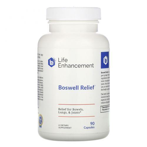 Life Enhancement, «Облегчение от босвеллии», 90 капсул