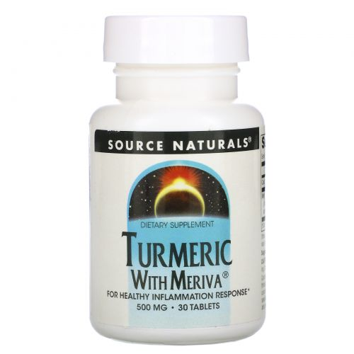 Source Naturals, Комплекс с куркумой Meriva, 500 мг, 30 таблеток