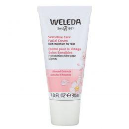 Weleda, Крем для лица, бережный уход, с экстрактом миндаля, для сухой и чувствительной кожи, 1 унция (30 мл)