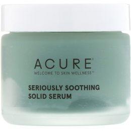 Acure, Сильно успокаивающая твердая сыворотка, 1,7 жидкой унции (50 мл)