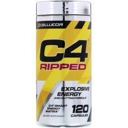Cellucor, C4 Ripped, взрывная энергия, 120 капсул