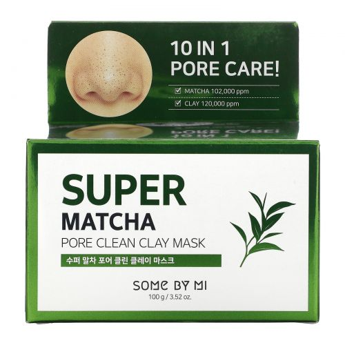 Some By Mi, Супер-Матча, очищающая бьюти-маска из глины, 100г (3,52унции)