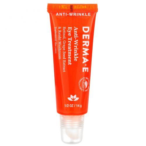 Derma E, Крем для кожи вокруг глаз против морщин, 1/2 oz (14 g)