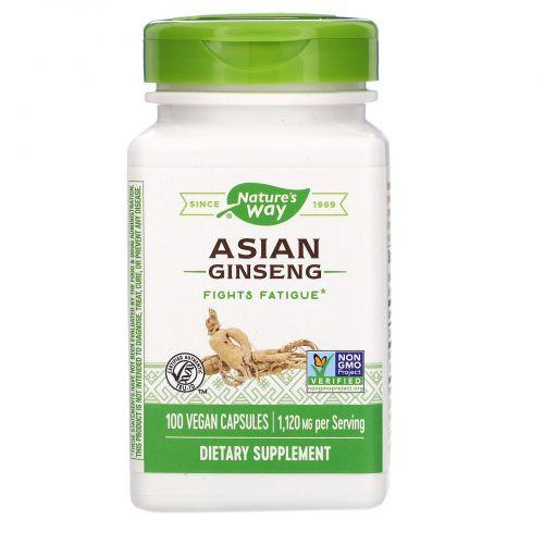 Nature's Way, Корень корейского женьшеня, 560 мг, 100 вегетарианских капсул