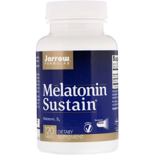 Jarrow Formulas, Мелатониновая поддержка, 120 таблеток