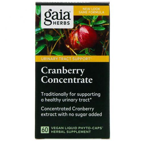 Gaia Herbs, Клюквенный концентрат 60 вегетарианских жидких фито-капсул