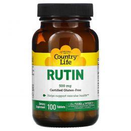 Country Life, Рутин, 500 мг, 100 таблеток
