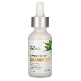 InstaNatural, Сыворотка с витамином C и гиалуроновой кислотой + феруловая кислота, омолаживающий, 1 жид.унц. (30 мл.)