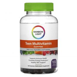 Rainbow Light, Teen's Multivitamin Gummies, Blueberry , 120 Gummies