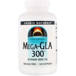 Source Naturals, Мега-ГЛК 300, 120 гелевых капсул