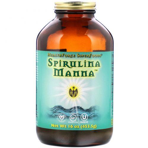 HealthForce Nutritionals, Spirulina Manna, Лучший в природе сухой белок, 16 унций, 1 фунт (453.5 г)
