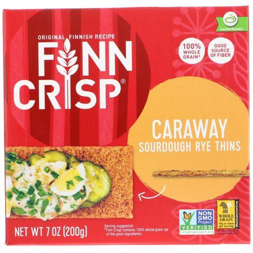 Finn Crisp, Тонкие хрустящие хлебцы с тмином, 7 унций (200 г)