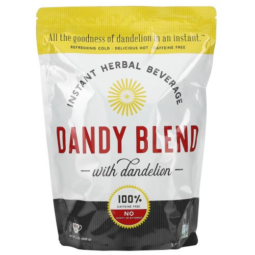Dandy Blend, Растворимый травяной напиток с одуванчиком, без кофеина, 2 фунта (908 г)